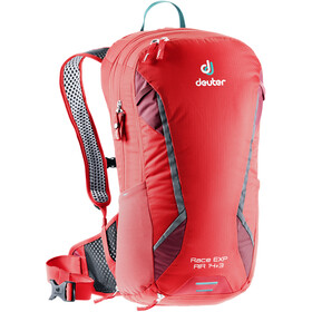 Deuter Race EXP Air Mochila 14+3l, chili/cranberry